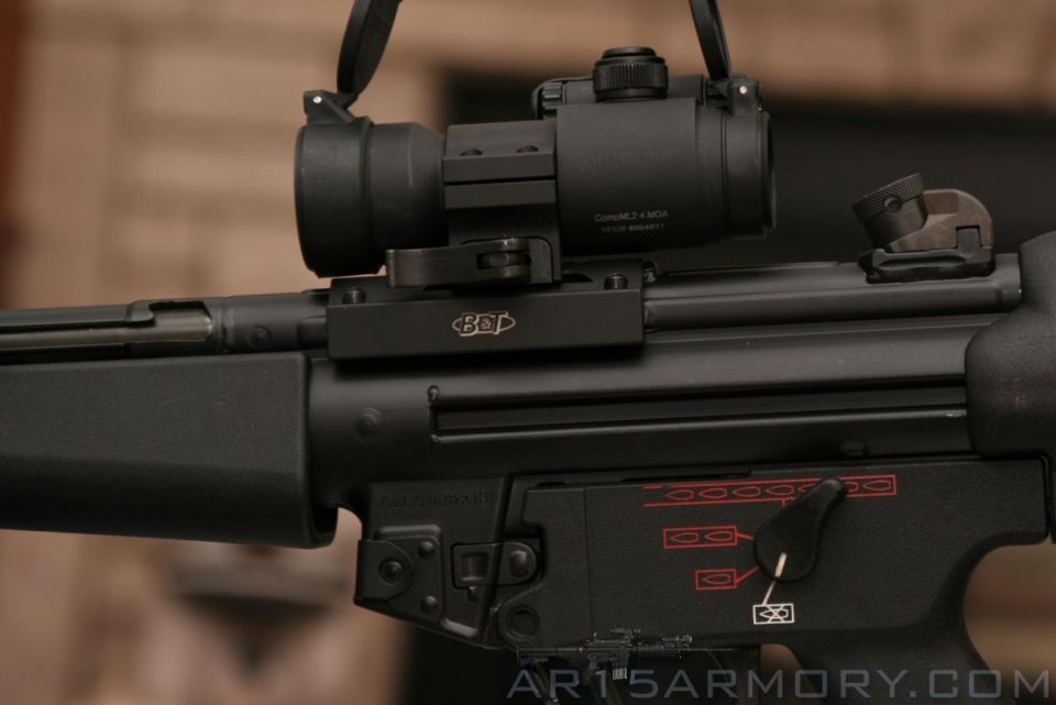 mp5 red dots mounts and co witness thread